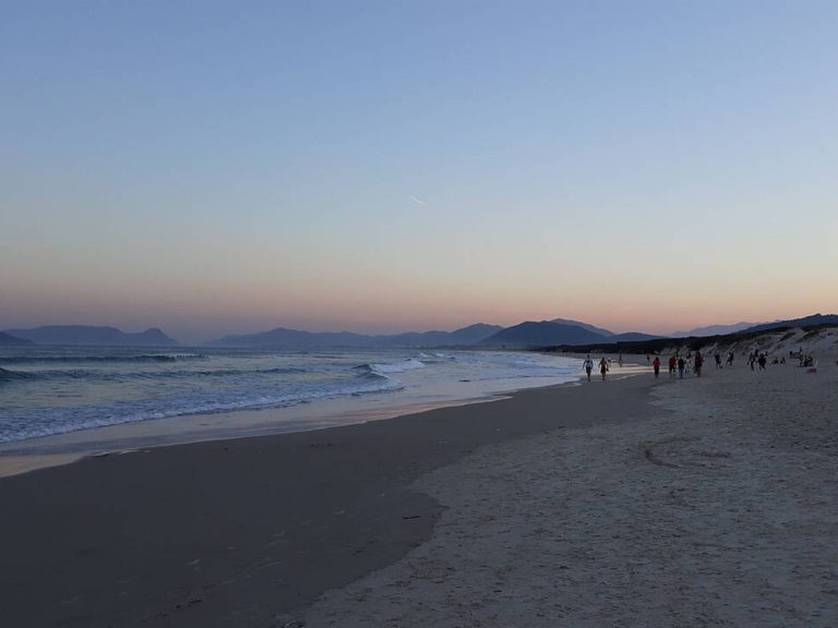 Dusk at Joaquina Beach in Florianópolis