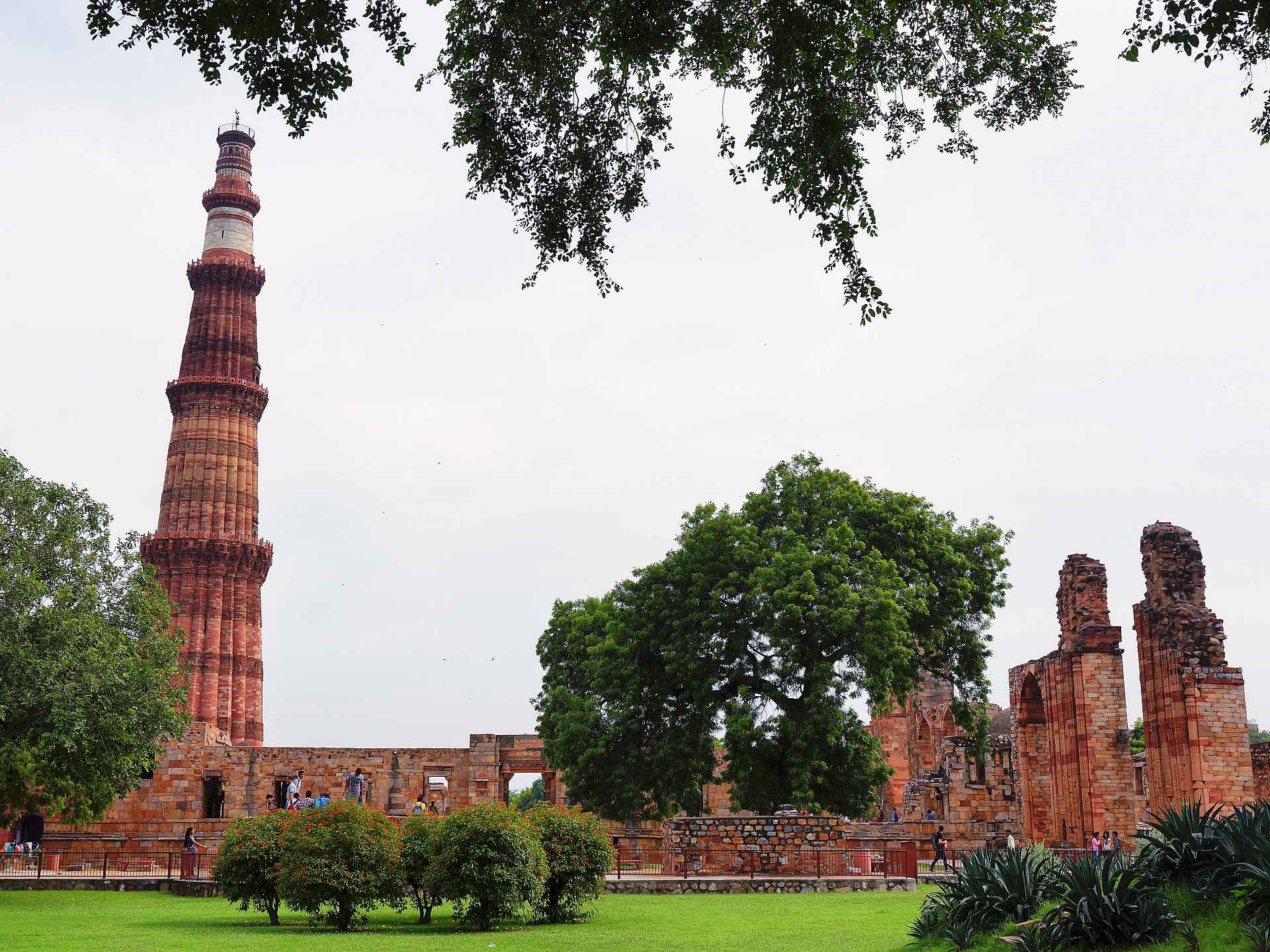The archaeological complex of Qutub Minar in New Delhi