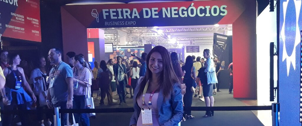 Bibi Cuellar Castro working at Rd Summit in 2018 in Brazil