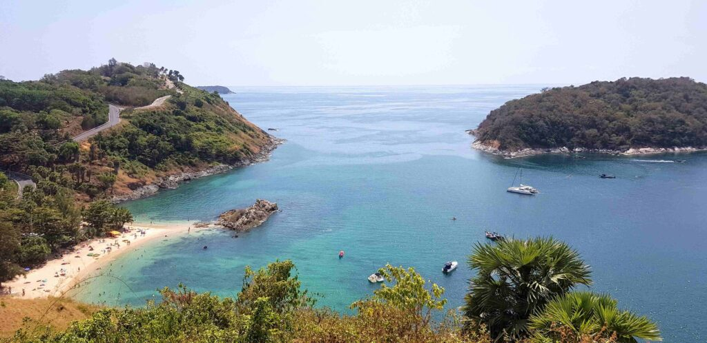 Yanui Beach as seen from the Windmill Viewpoint in Phuket, Thailand - published in Phuket, from Viajando Facil