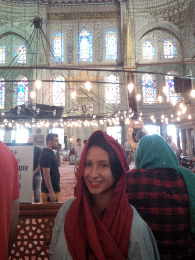 3x4 bibi blue mosque inside