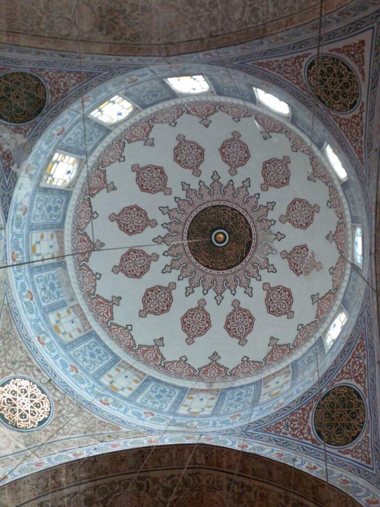 3x4 blue mosque inside