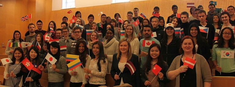 International students studying in Austria