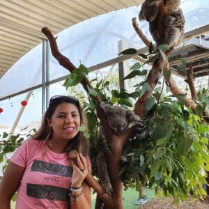 Stefania and a Koala