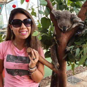 Stefania with a Koala