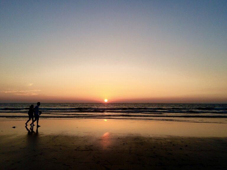 Sunset at Ashvem Beach