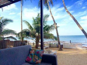 Leela Cotttages sofa in Ashvem Beach, Goa